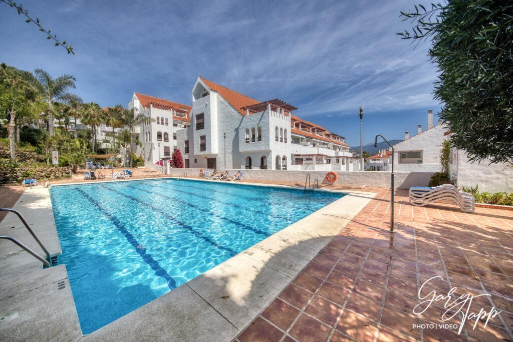 Outside pool Real Estate Photographer Marbella