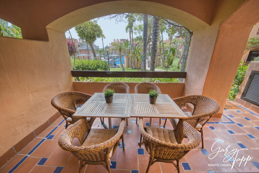 Outside patio Real Estate Photographer in Estepona