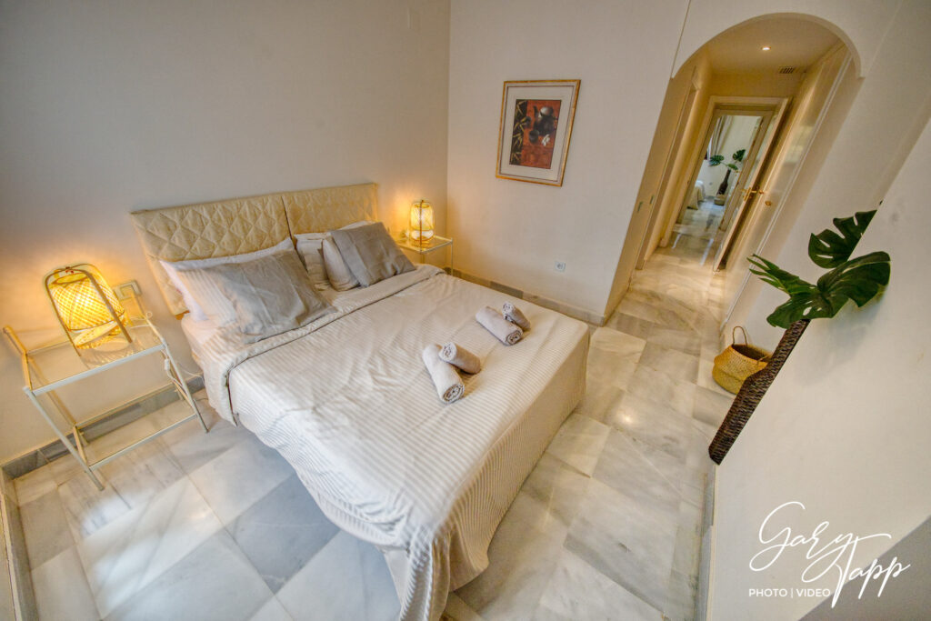 Bedroom interior Real Estate Photographer in Estepona