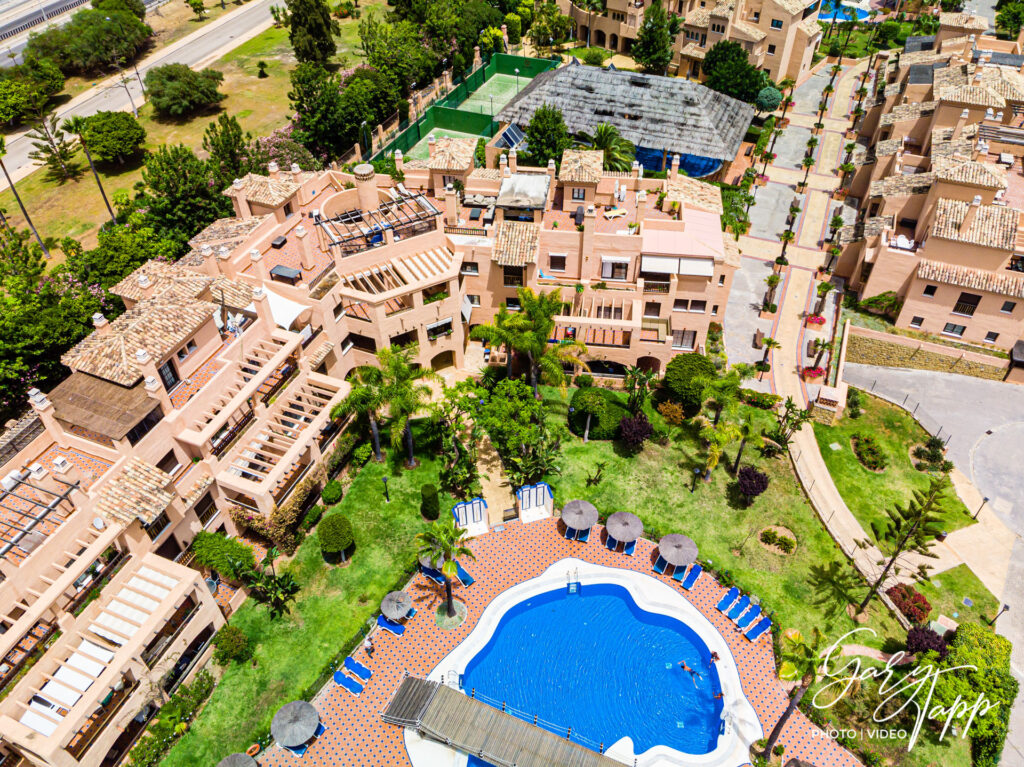 Aerial drone view of Real Estate Photographer in Estepona